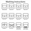 Vector de stock : Washing instruction