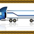 Semi truck, isolated — Stock Vector