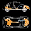 Vector de stock : The most important parts of the car