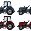 Agricultural machinery, tractors — 图库矢量图片
