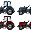 Agricultural machinery, tractors — ベクター素材ストック