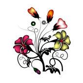 Conjunto floral vetor — Vetor de Stock