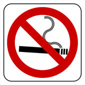 No smoking symbol — Stock Vector