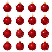 Conjunto de adornos de navidad — Vector de stock
