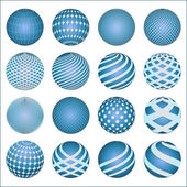 Blue sphere spheres — Stock Vector