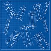 工具蓝图素描 — 图库矢量图片