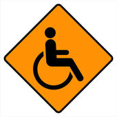 Disabled icon sign — Stock Vector