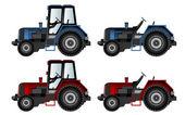 Maquinaria agrícola, tractores — Stockvector