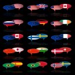 Language bubble with flags — Vector de stock #32362233