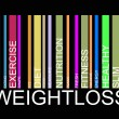 Weightloss text barcode, vector — Stock Vector