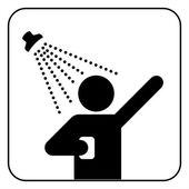 Shower sign vector — Stock Vector
