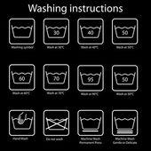 Washing instruction — Stock Vector