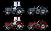 Landbouw-machines, tractoren, vector — Stockvector