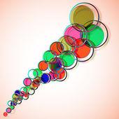 Fond d'écran abstrait coloré — Vecteur