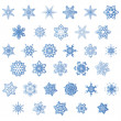 Set of snowflake, vector — Stock vektor