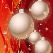 Elegante fondo de navidad — Vector de stock