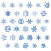 Set of snowflake, vector — Stock Vector
