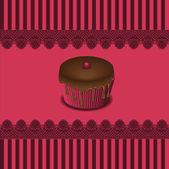 Cartes de gâteau, vector — Vecteur