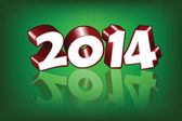 New 2014 Year greeting card, vector — Stock Vector