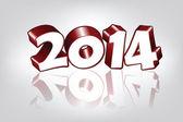 Novedad 2014 año tarjeta de felicitación, vector — Vector de stock