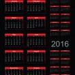 Simple Calendar year 2014, 2015, 2016, vector — Stock Vector #32655477