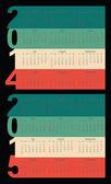 Simple Calendar year 2014, 2015 — Stock Vector