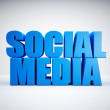 Stock Photo: Social Media, 3d, blue
