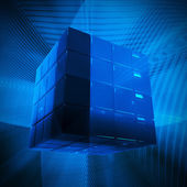Glowing boxes background — Stock Photo
