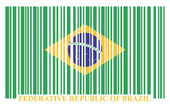 Brazil barcode flag — Stock Vector