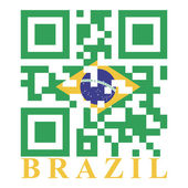 Brazil QR code flag — Stock Vector