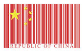 China barcode flag — Stock Vector