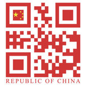 China QR code flag — Stock Vector