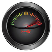 Fear meter indicate — Stock Vector