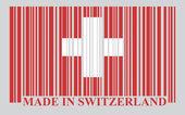 Switzerland barcode flag — Stock Vector