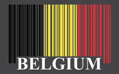 Belgium barcode flag — Stock Vector