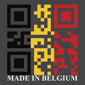 Belgium QR code flag — Stock Vector