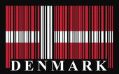 Denmark barcode flag — Stock Vector