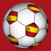 Spanish soccer ball — Stock Vector
