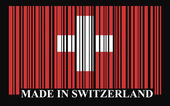 Switzerland barcode flag — Stock Vector