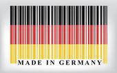 флаг германии штрих-кодов — Cтоковый вектор