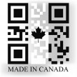 Canada QR code flag — Stock Vector #47934193