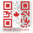Canada QR code flag — Stock Vector #47934215