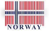 Norway barcode flag — Stockvector