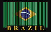 Brazil barcode flag — Stock Vector