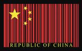 China barcode flag — Stockvector