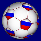 Russian soccer ball — 图库矢量图片