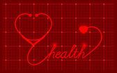 Lékařské valentinky symbol — Stock vektor