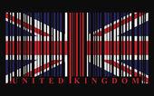 UK barcode flag — Stock Vector