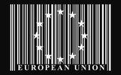 EU barcode flag — Stock Vector