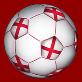 Bola de futebol da inglaterra — Vetorial Stock